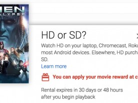 Google Promo Offers 50% Off Movie Purchase