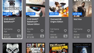PlayStation Store Black Friday Sale Offers Big Discounts