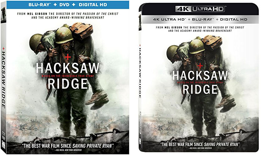 Mel Gibson S Hacksaw Ridge Releasing To Blu Ray 4k Ultra Hd Hd Report