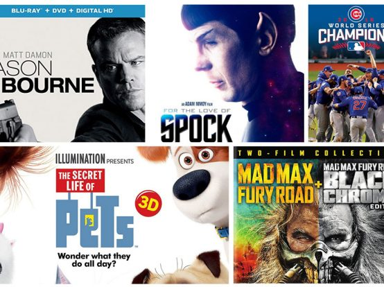 The Secret Life of Pets, Jason Bourne & Other Blu-ray Releases This Week