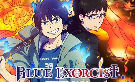 blue exorcist anime graphic