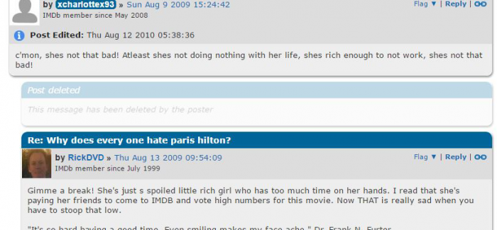 IMDb message boards