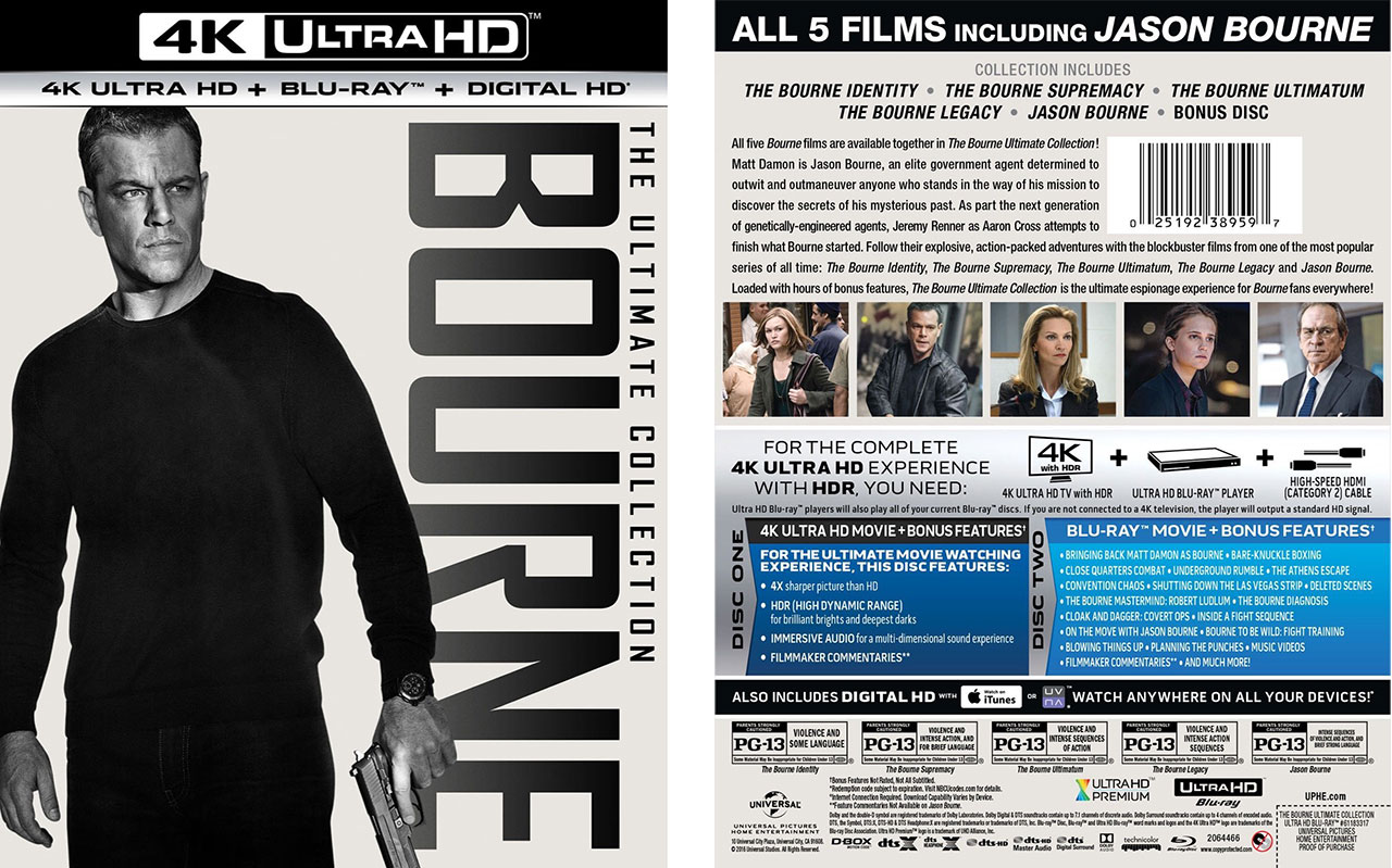 The Bourne Ultimate Collection Releasing to 4k Ultra HD Blu-ray – HD Report