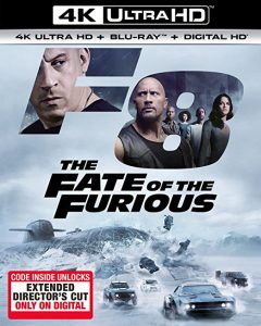 The Fate of the Furious 4k Blu-ray unlock digital