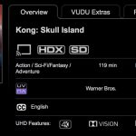Vudu 4k now features over 30 Dolby Vision / Atmos titles