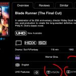 Blade Runner: The Final Cut code redeems in 4k with Dolby Vision & Atmos