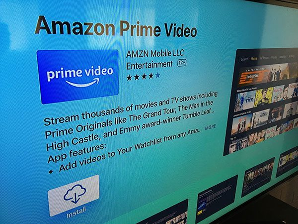 amazon prime video app on apple tv