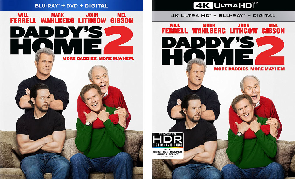 Daddys Home 2 Blu Ray 4k Digital Release Dates Announced Hd Report