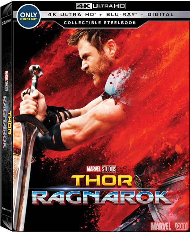 Thor- Ragnarok Best Buy 4k Blu-ray front