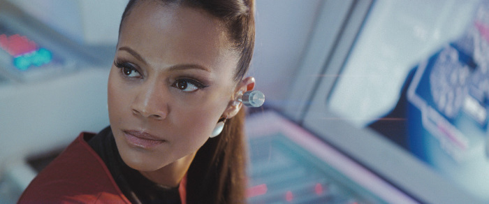Zoe Saldana as Uhura in Star Trek (2009)