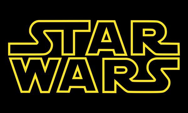 Star Wars logo on black