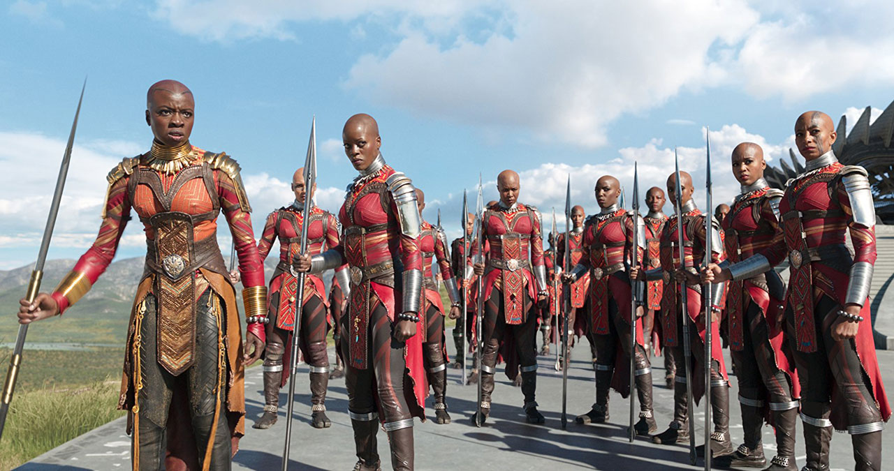 Florence Kasumba, Danai-Gurira in Black Panther from Disney / Marvel