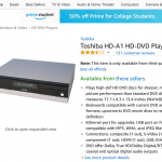 Why Does Amazon Still Sell HD DVD Discs & Players?