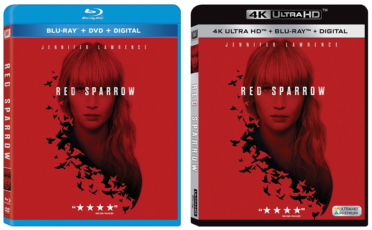Red Sparrow' release dates on Blu-ray & 4k Ultra HD