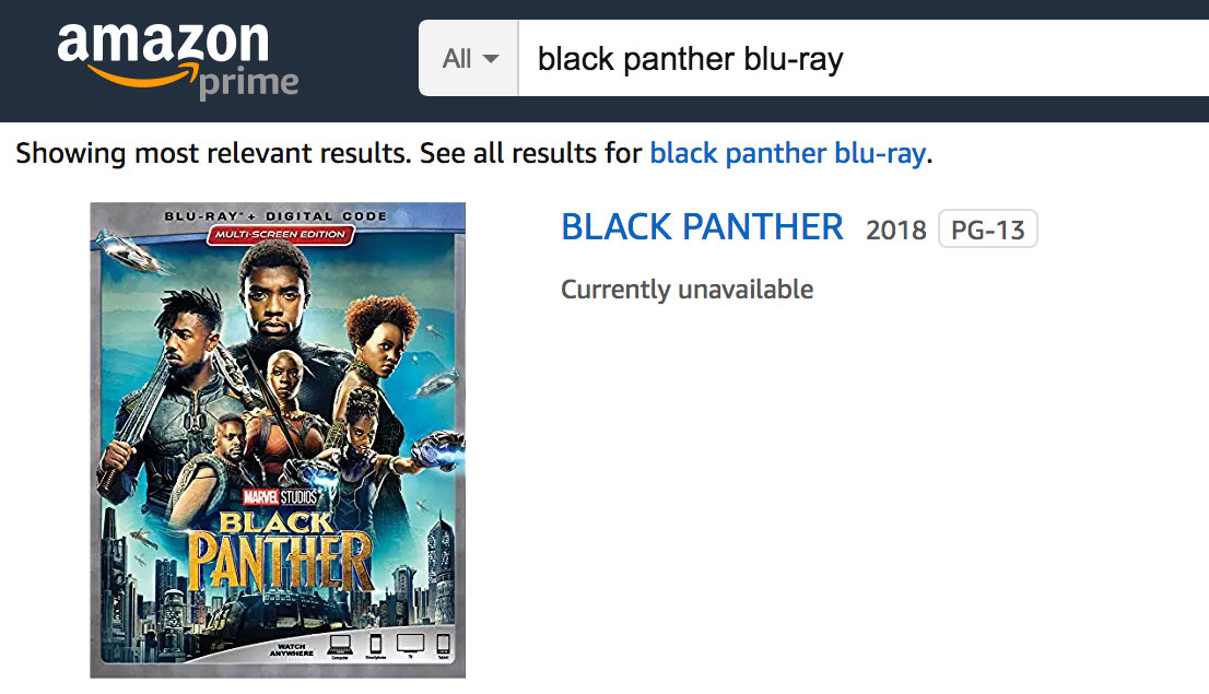 black-panther-blu-ray-amazon-unavailable