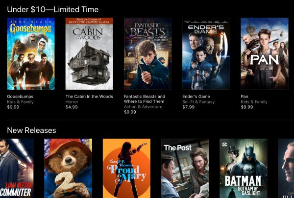 Deals on 4k movies at itunes