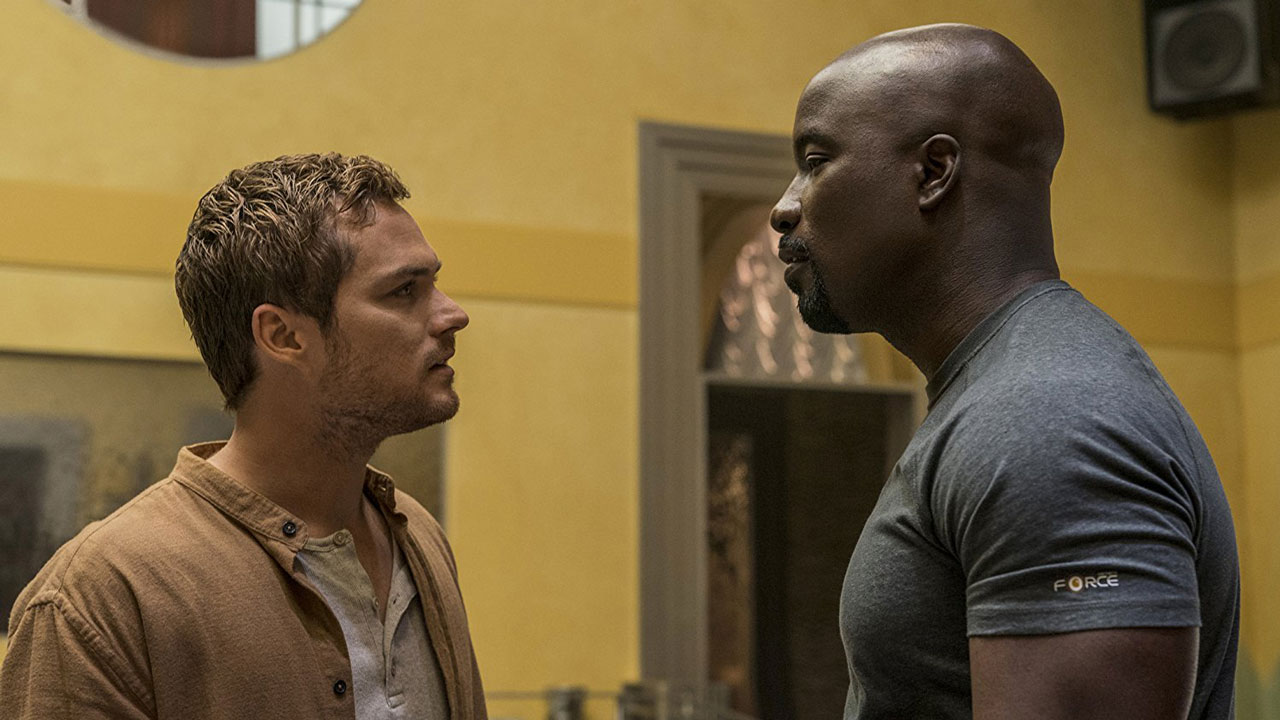 Image: Luke Cage - Mike Colter and Finn Jones photo by David Lee/Netflix -