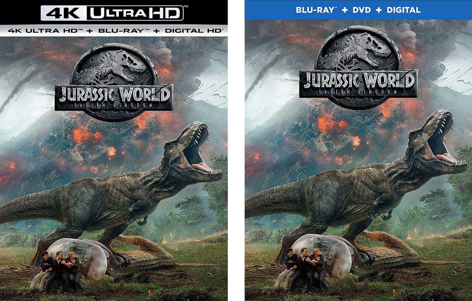 """Jurassic World: Fallen Kingdom"" Blu-ray / 4k Blu-ray"