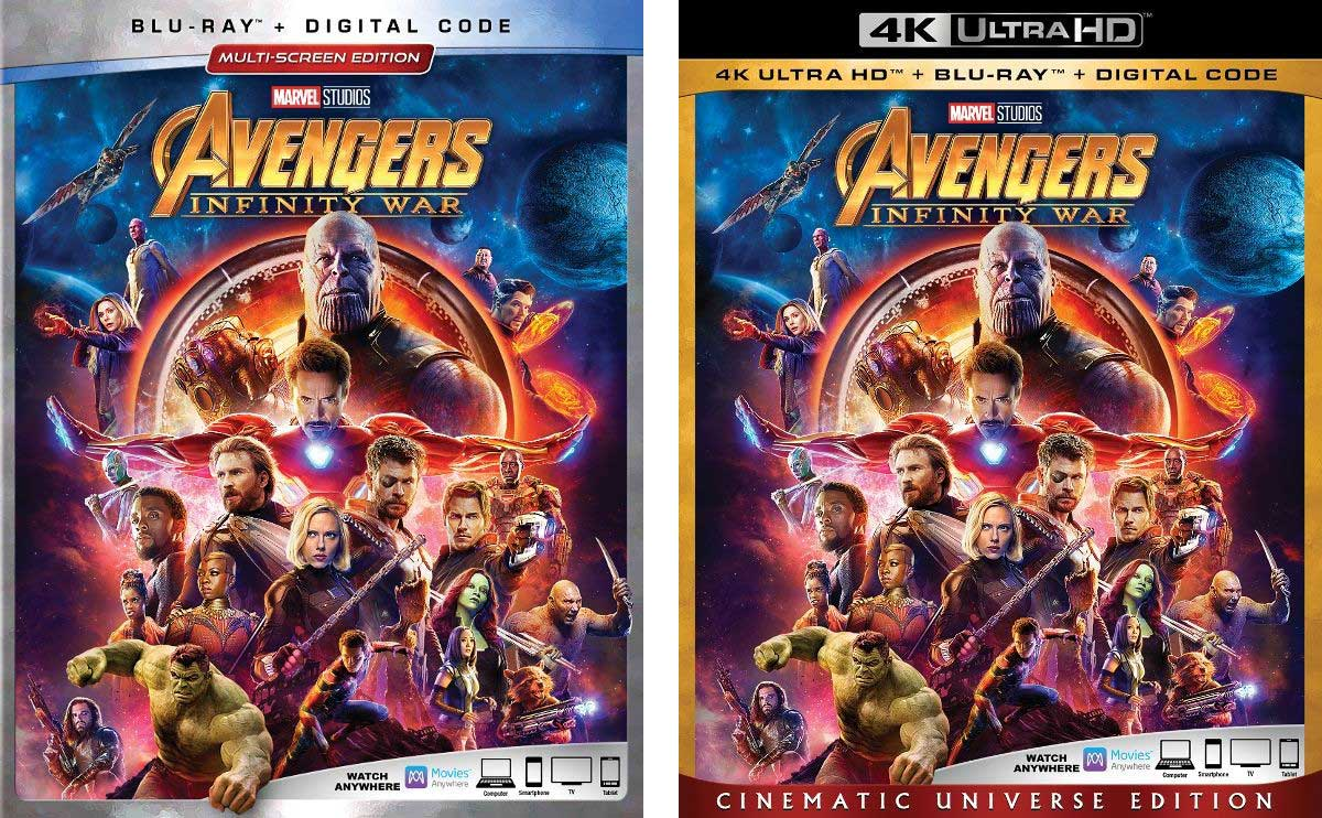 Avengers: Infinity War' Release Dates & Blu-ray Art Revealed