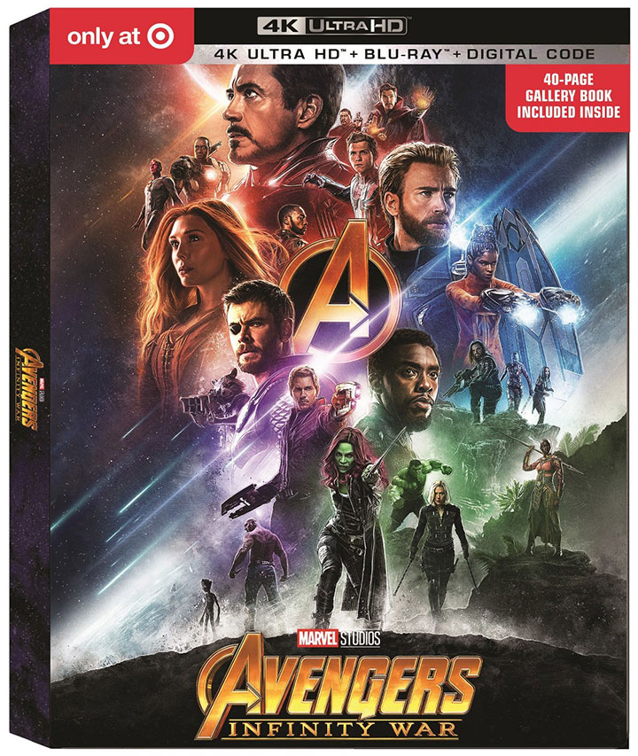 Avengers Infinity War Target Exclusive 4k Blu-ray