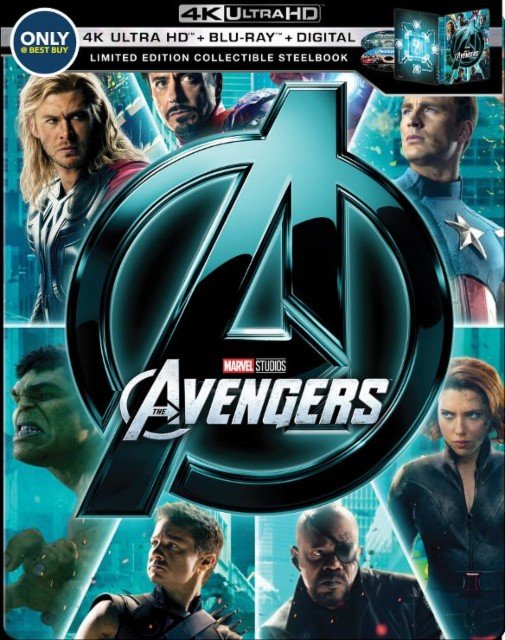 Marvels The Avengers SteelBook 4k Blu-ray