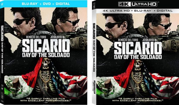 Sicario Day of the Soldado 4k Blu-ray