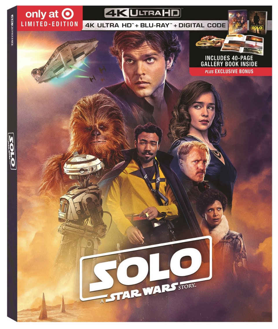 """Solo: A Star Wars Story"" Target Exclusive Blu-ray w/Gallery Book"
