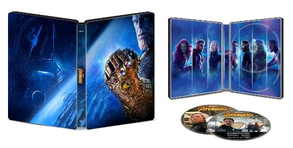 avengers infinity war best buy steelbook open