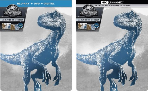 jurassic world fallen kingdon best buy-blu ray steelbook