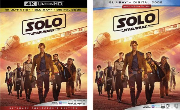 """Solo"" A Star Wars Story"" Standard Blu-ray & 4k Blu-ray Editions"