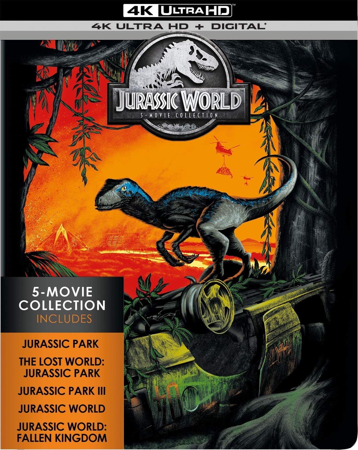 Jurassic World- 5-Movie Collection 4k Blu-ray