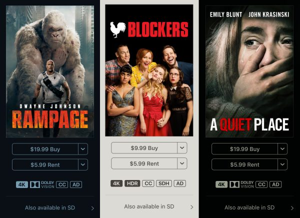 itunes examples 4k hdr content