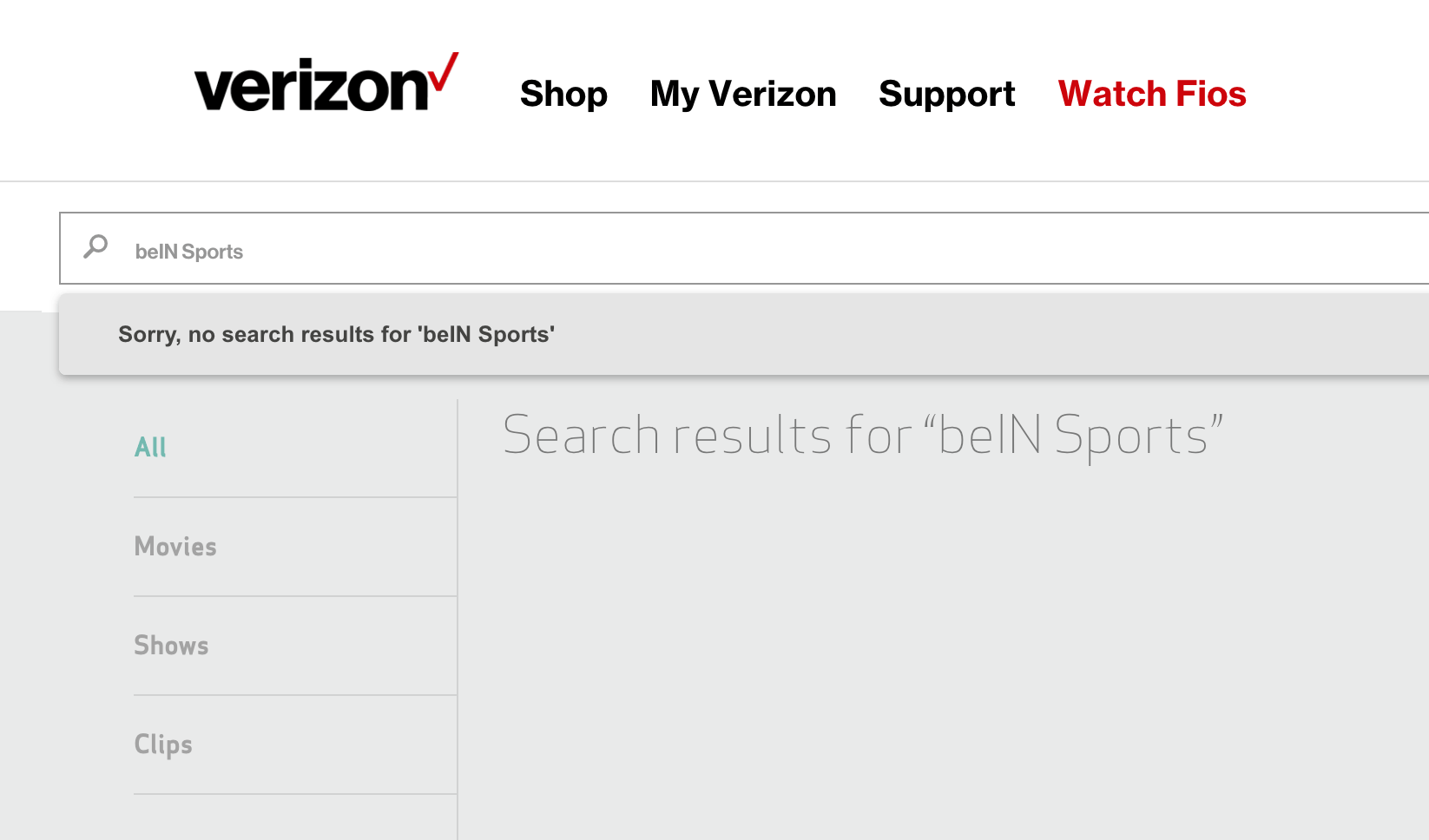 verizon no bein sports