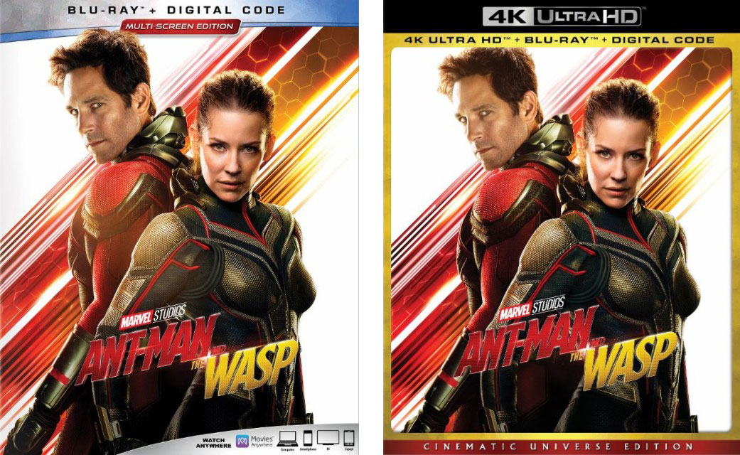 """Ant-Man and The Wasp"" Blu-ray / 4k-Blu-ray Editions"