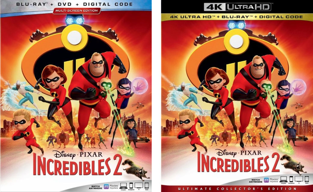Incredibles 2 Blu-ray & 4k Blu-ray
