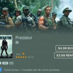 'Predator' available in Digital 4k w/HDR for only $5