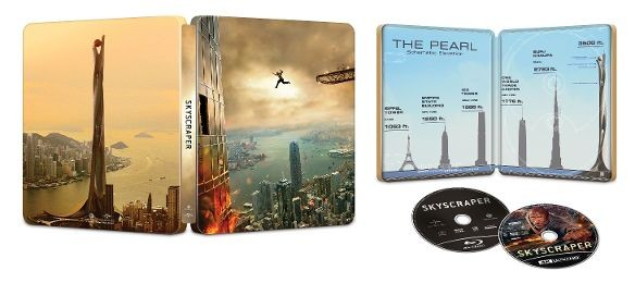 """Skyscraper"" Best Buy 4k Blu-ray SteelBook Edition"