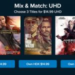 How To Get Three 4k Digital Movies For $14.99