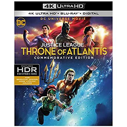 DCU Justice League- Throne of Atlantis Commemorative Edition 4k Blu-ray thumb