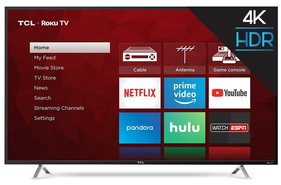 TCL 55S405 55-Inch 4K Ultra HD Roku Smart LED TV 2017 Model