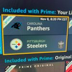 Amazon Prime Upcoming Live Streaming NFL Games & ATP Tennis