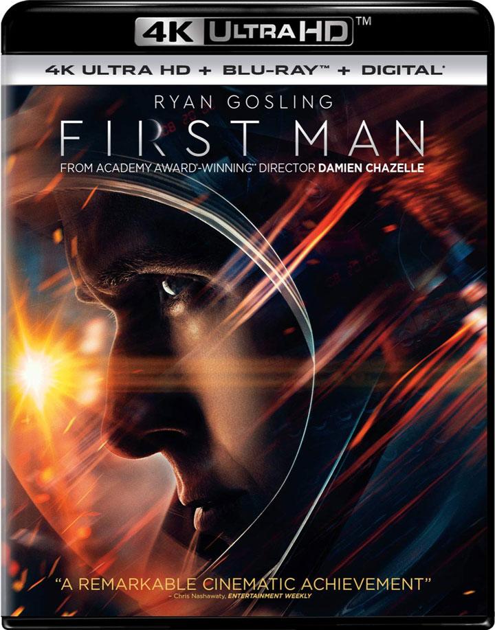 First Man 4k Blu-ray front
