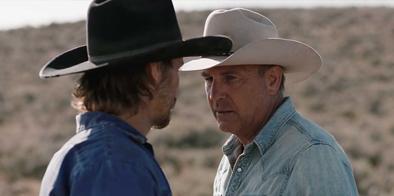 "Kevin Costner and Luke Grimes in ""Yellowstone"""