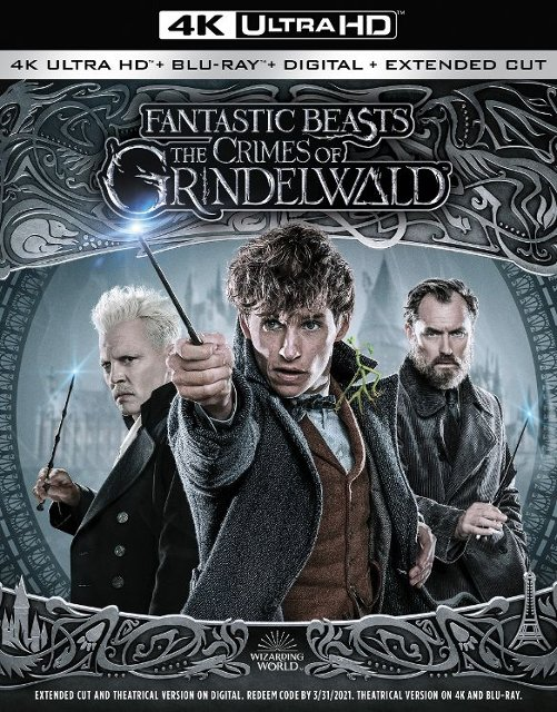 """Fantastic Beasts: The Crimes of Grindelwald"" (2018) 4k Blu-ray"