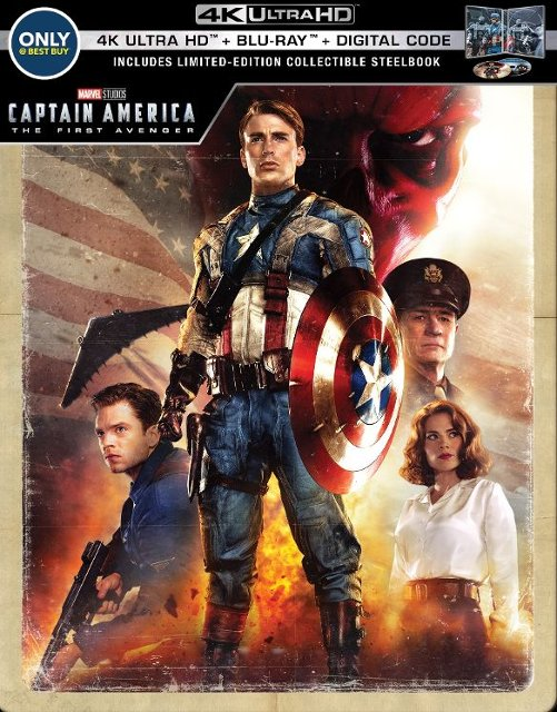 Captain America- The First Avenger 4k Blu-ray SteelBook Best Buy