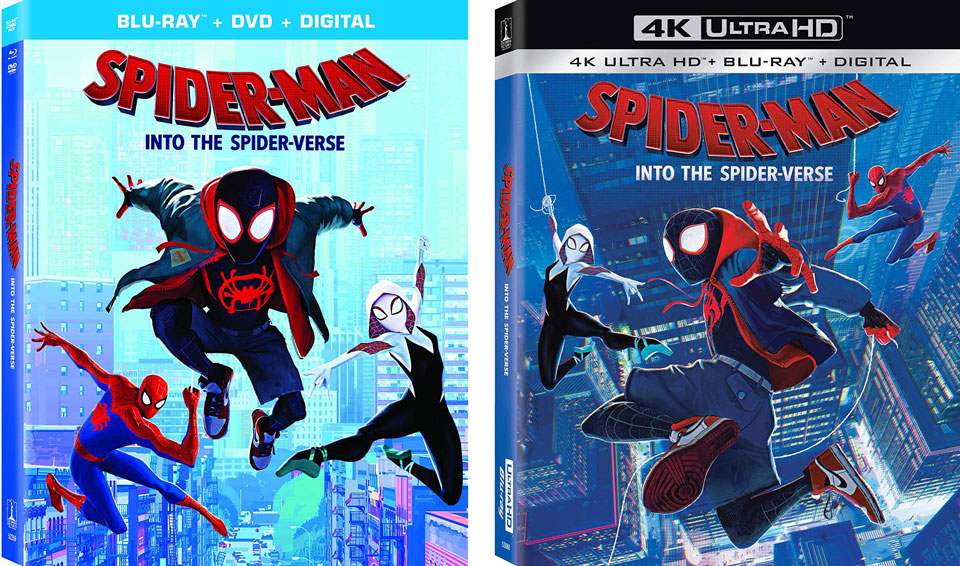 Spider Man Into the Spider Verse 4k Blu-ray edition