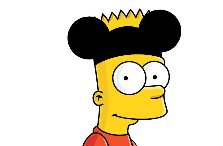 Bart with Mickey Mouse ears