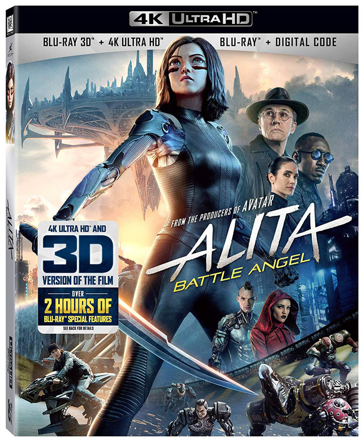 """Alita: Battle Angel"" (2019) Ultra HD & 3D Blu-ray"