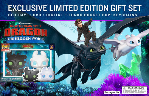 """How to Train Your Dragon: The Hidden World"" Walmart Gift Set Blu-ray Edition"