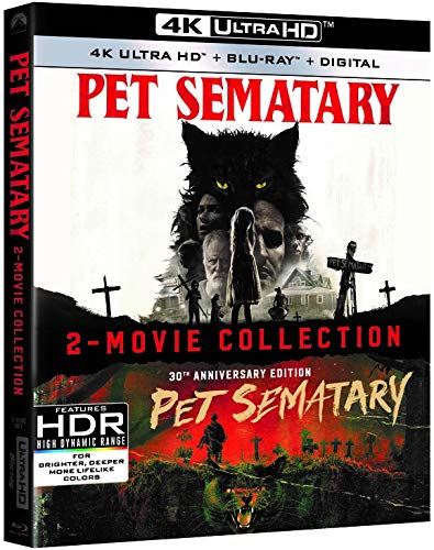Pet Sematary 2019 1989 2 Movie Collection 4k Blu-ray